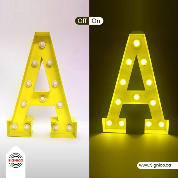 3D LED Bulb Letters and Numbers