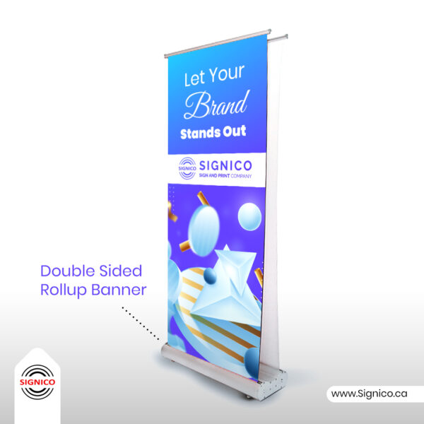 Double Sided Rollup Banner