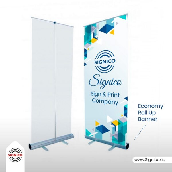 Economy Roll Up Banner Signico