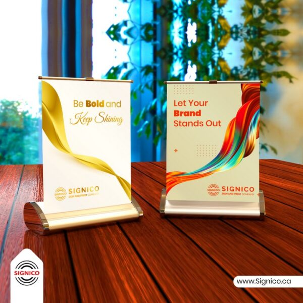 Table Top Roll Up Banner Signico
