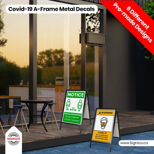 Covid-19 Wall A-Frame Metal