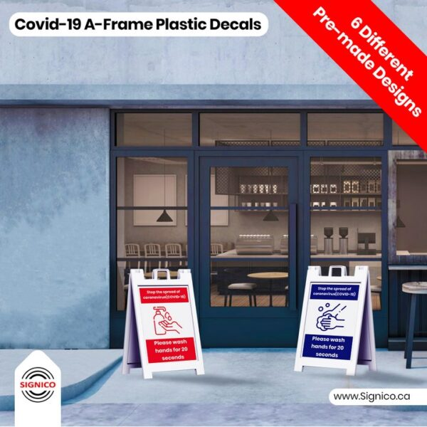 Covid-19 Wall A-Frame Plastic