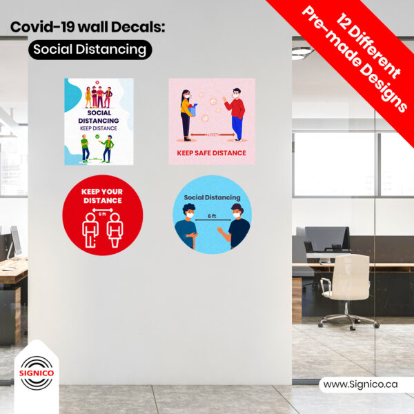 Covid-19 Wall Decals Social Distancing