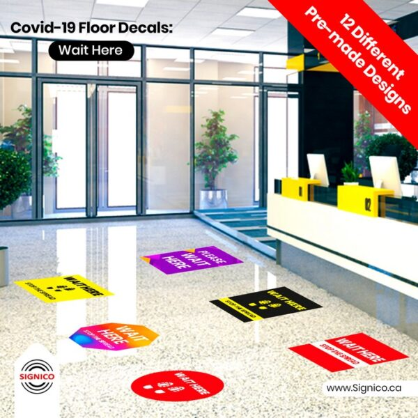 Covid-19-Floor-Decals-Wait-Here-Signico